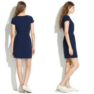 Madewell | Navy Blue Cap Sleeve Dress With Pockets